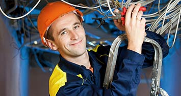 Electrician Training worker